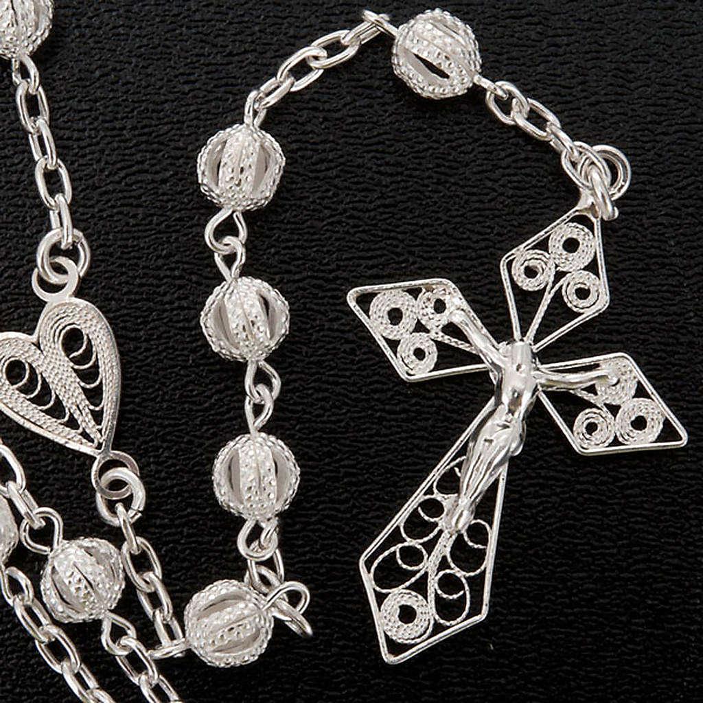 Rosary in silver 800 filigree 4