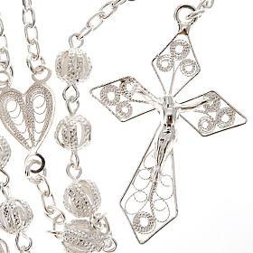 Rosary in silver 800 filigree s1