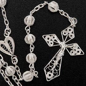 Rosary in silver 800 filigree s4