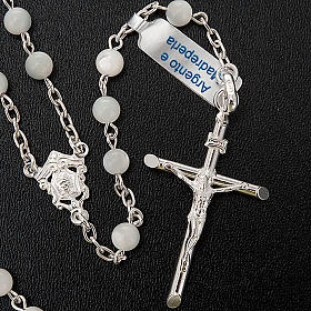 Silver rosary round nacre bead s2