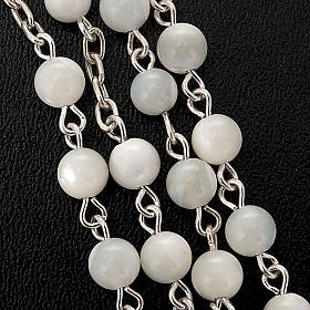 Silver rosary round nacre bead s3