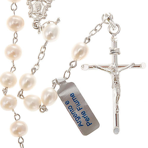 Rosary in silver 925 with freshwater pearls 1