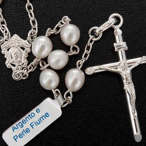 Rosario plata 925 perlas de río 2