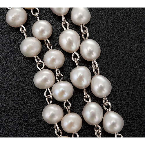 Rosario plata 925 perlas de río 3