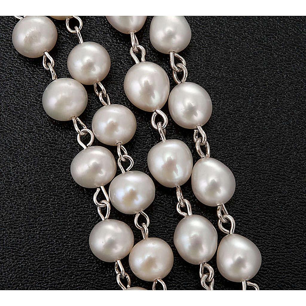 Różaniec srebro 925 perły słodkowodne 4
