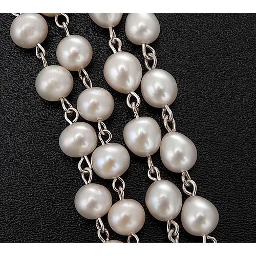 Różaniec srebro 925 perły słodkowodne 3