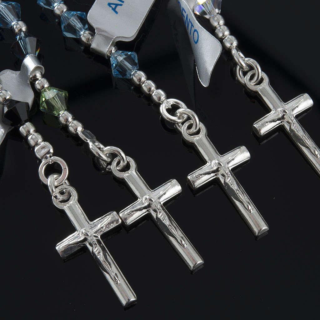 Rosary, 925 silver and swarovski, 4 colors 4