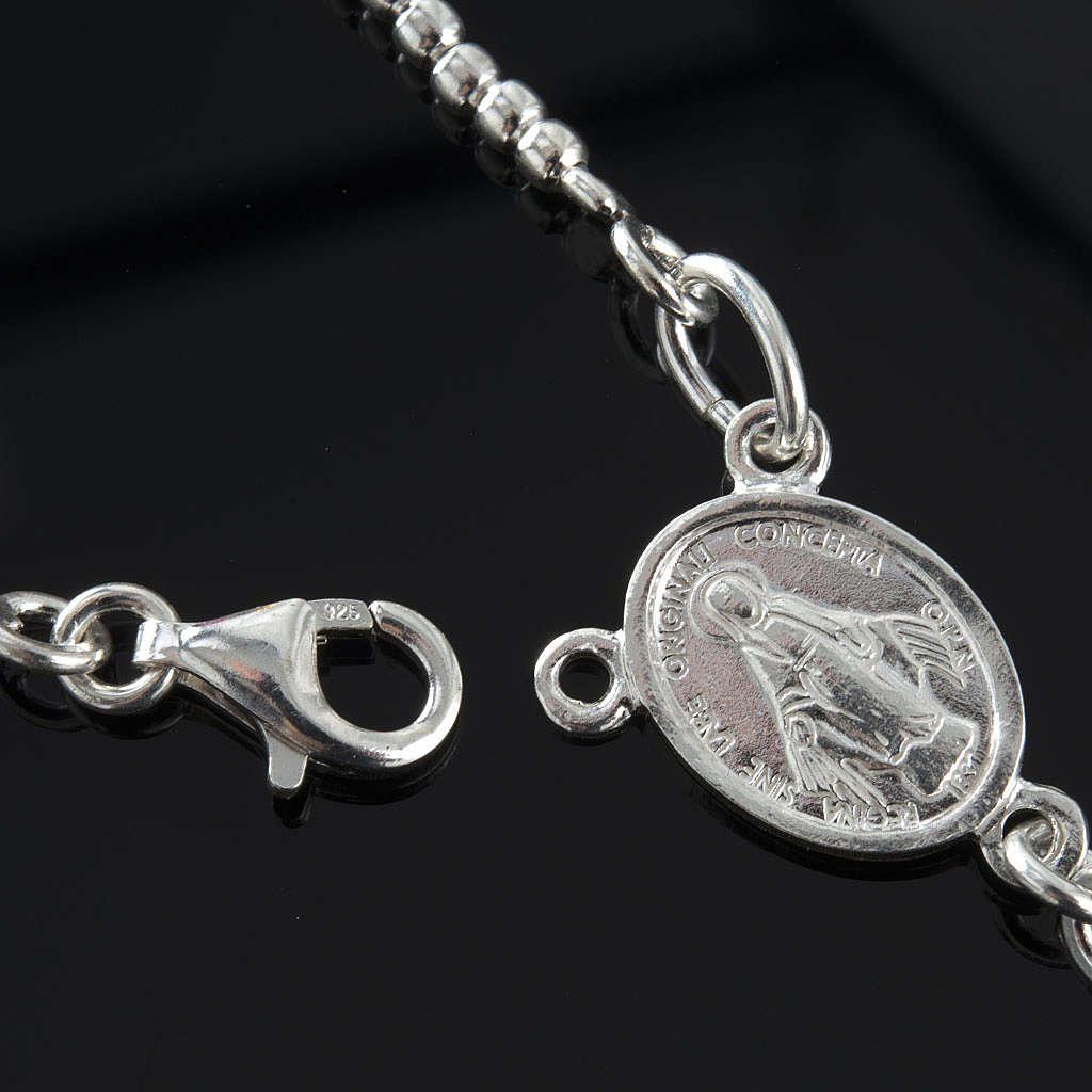 Rosary, 800 silver and swarovski, 4 colors 4