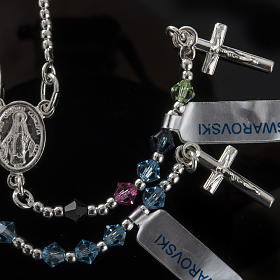 Rosary, 800 silver and swarovski, 4 colors s2
