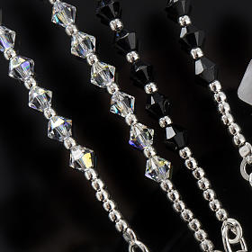 Rosary, 800 silver and swarovski, 4 colors s3