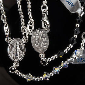 Rosary, 800 silver and swarovski, 4 colors s8