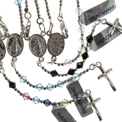 Rosary, 925 silver and swarovski, 4 colors 1