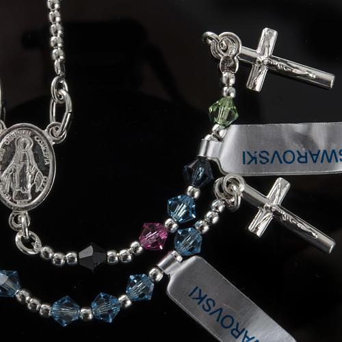 Rosary, 800 silver and swarovski, 4 colors 2