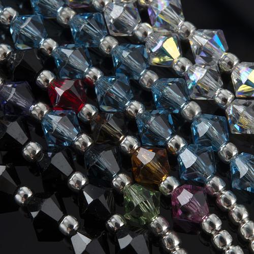 Rosary, 800 silver and swarovski, 4 colors 5