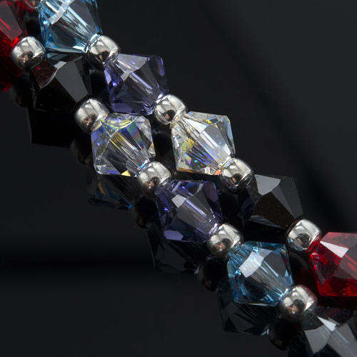 Rosary, 800 silver and swarovski, 4 colors 10