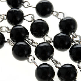 Rosary, 925 silver and onyx, 6mm s8