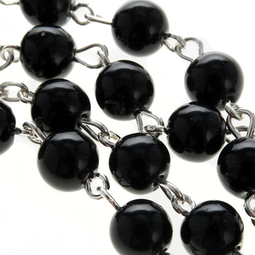 Rosary, 925 silver and onyx, 6mm 8