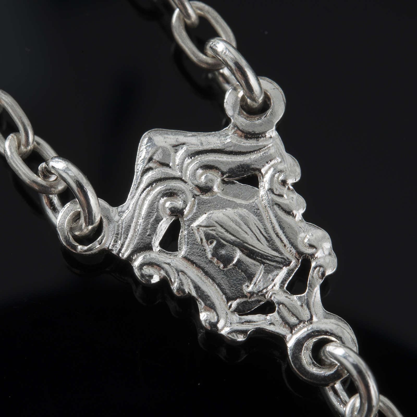 Rosario de plata 925 ónix 6mm 4