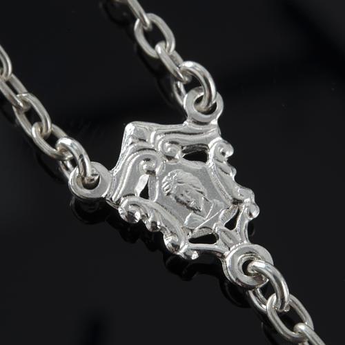 Rosario de plata 925 ónix 6mm 7