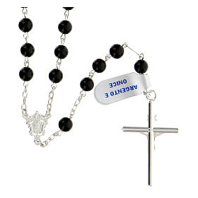 Rosary, 925 silver and onyx, 6mm s2