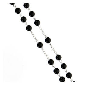 Rosary, 925 silver and onyx, 6mm s3