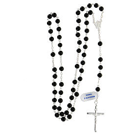 Rosary, 925 silver and onyx, 6mm s4