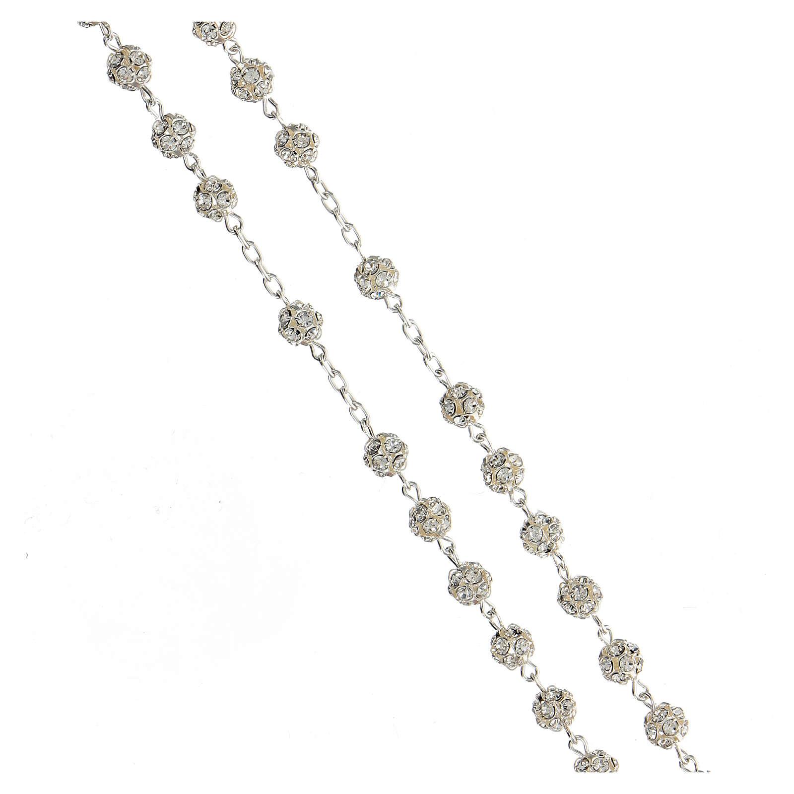 Rosenkranz aus 925er Silber und Swarovski-Kristallen 6 mm 4