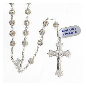 Rosary, 925 silver and swarovski, 6mm s1