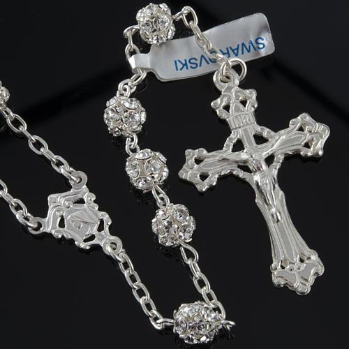Rosary, 925 silver and swarovski, 6mm 2