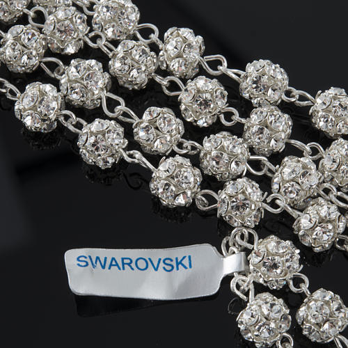 Rosary, 925 silver and swarovski, 6mm 5