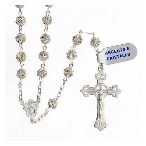 Rosary, 925 silver and swarovski, 6mm 1
