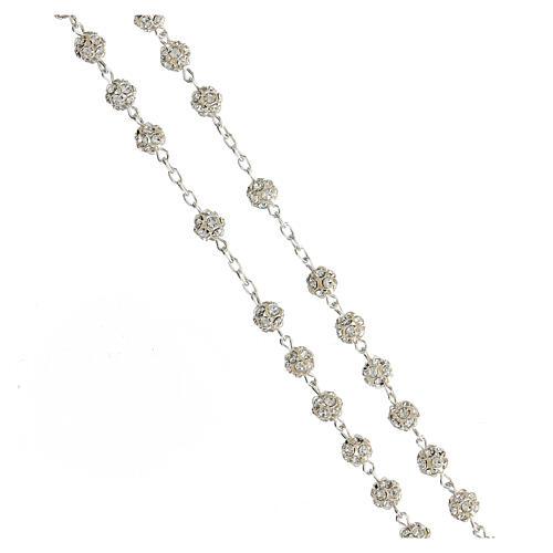 Rosary, 925 silver and swarovski, 6mm 3