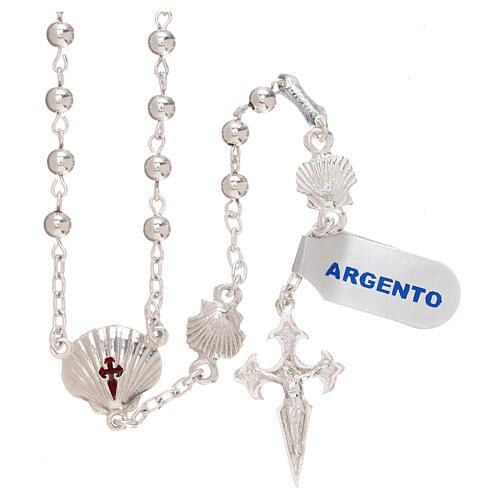 Terço prata 925 Santiago de Compostela 1