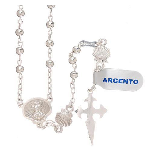 Terço prata 925 Santiago de Compostela 2