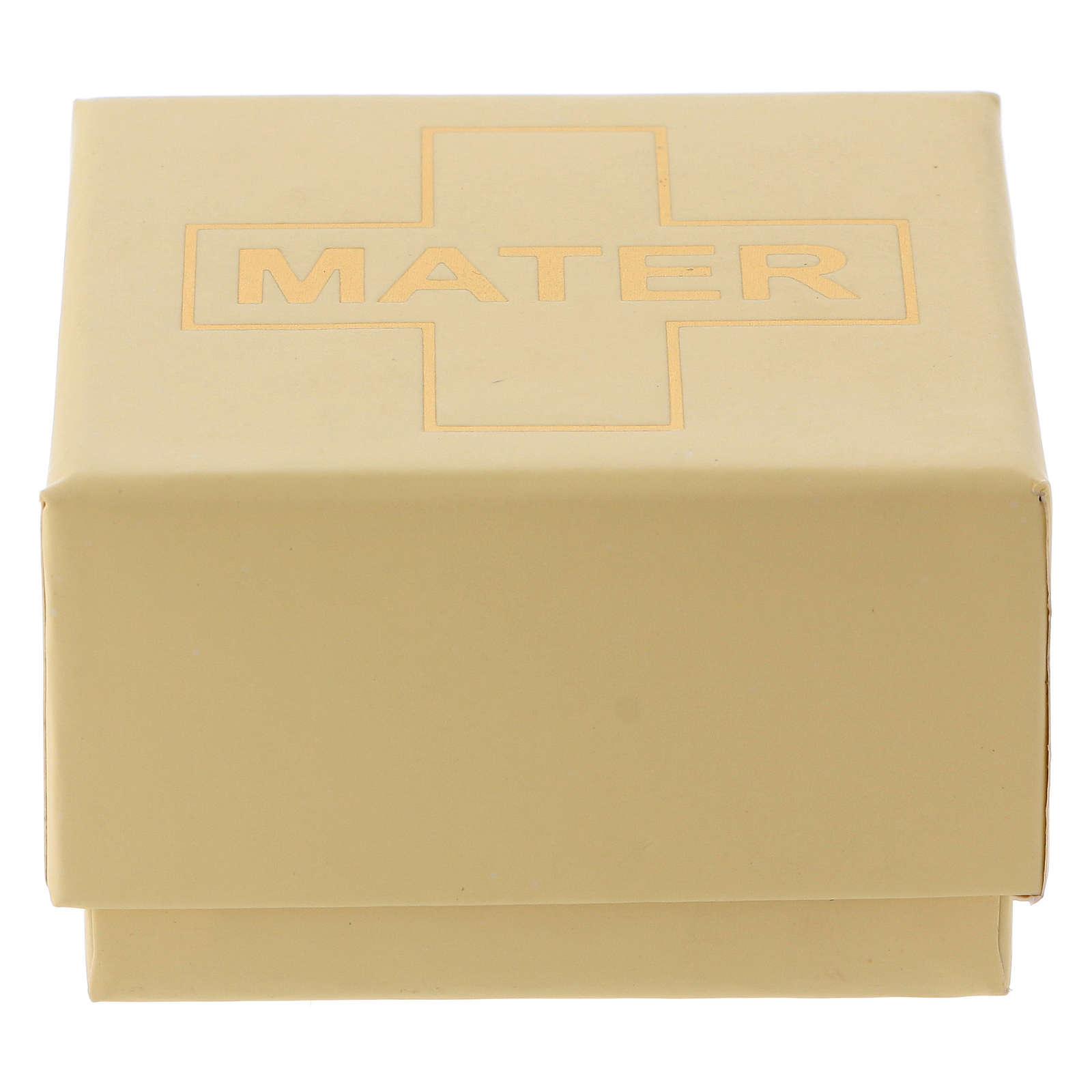 Chapelet MATER blanc argent 925 4