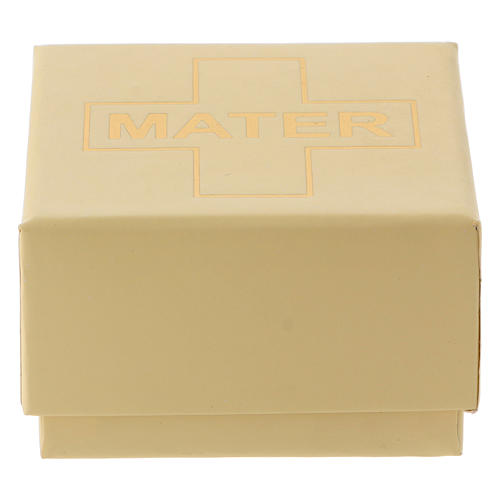 Chapelet MATER blanc argent 925 5