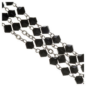 Rosary beads in silver and Swarovski 0,2in black s3