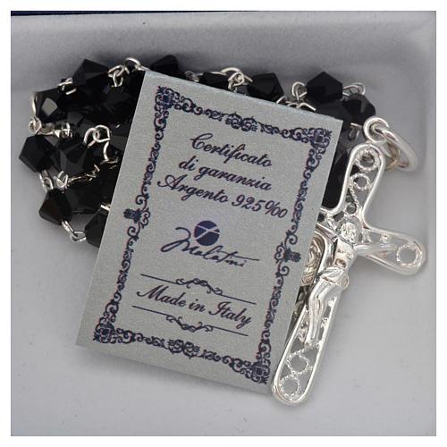 Rosary beads in silver and Swarovski 0,2in black 5
