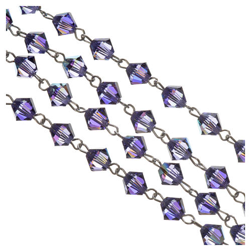 Rosary beads in silver and Swarovski 0,2in amethyst 3
