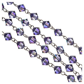 Rosary beads in silver and Swarovski 0,2in amethyst s3