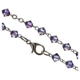 Rosary beads in silver and Swarovski 0,2in amethyst s4