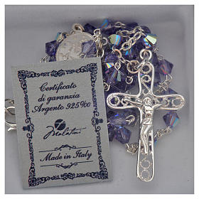 Rosary beads in silver and Swarovski 0,2in amethyst s5