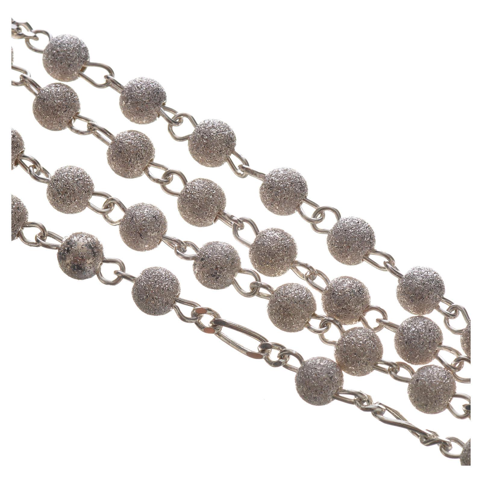 Chapelet argent 928 croix Bon Pasteur 4 mm 4