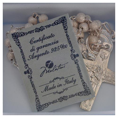 Rosary beads in silver Good Shepherd cross Pope Francis 0,16in 5