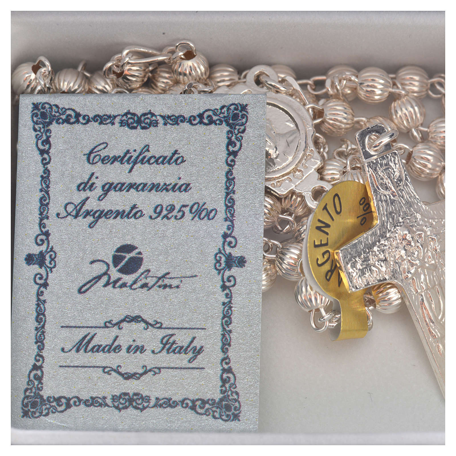 Rosary beads in silver, Pope Francis 4