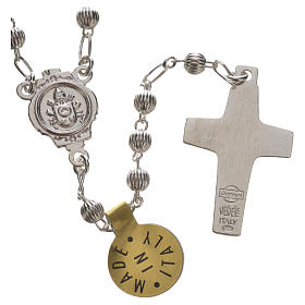 Rosary beads in silver, Pope Francis s2