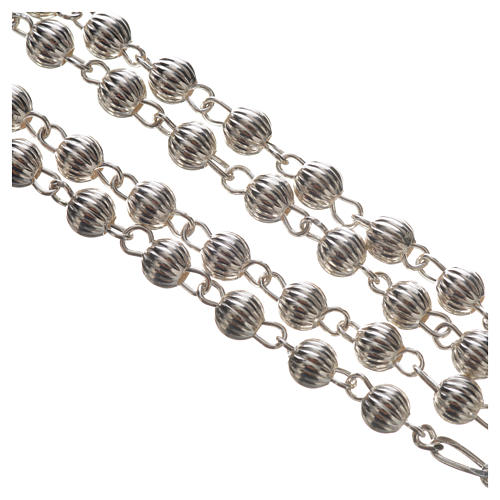 Rosary beads in silver, Pope Francis 3