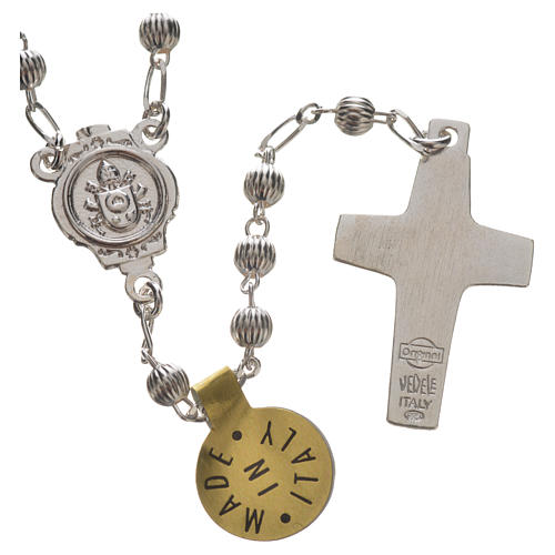 Rosary beads in silver, Pope Francis 2