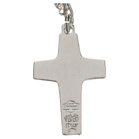 Rosary beads in silver, Pope Francis 0,12in s9