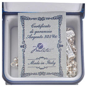 Rosary beads in silver, Pope Francis 0,12in s10